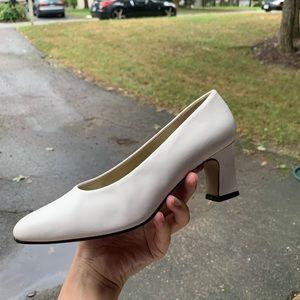White 90's Block Heel